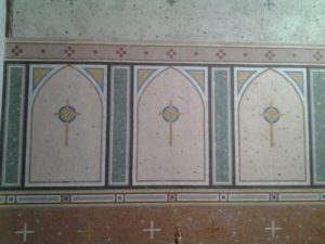 Part of the celebrated Sergio Benedetti mosaicsThe Church of the Assumption Collooney
